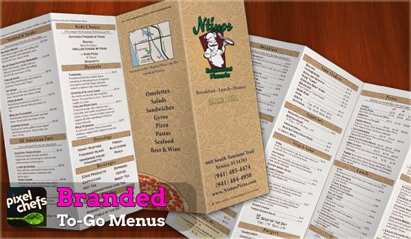 Orlando Graphic Design Studio PixleChefs Designed Restaurant Menus