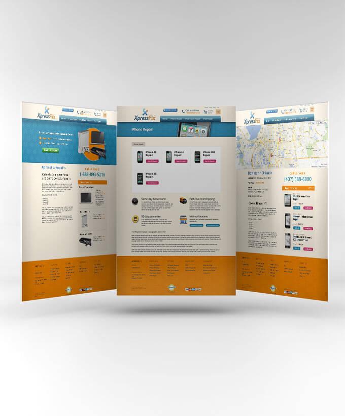 Web Design for Repair Store